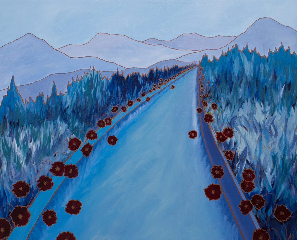 Road-with-poppies-24x32-acrylic